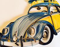 Paper Quilled Volkswagen Beetle