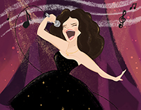 Illustration de la chanteuse Fatima Zahra Sedkane