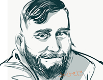 Taylor portrait drawn on iPad with Adobe Draw