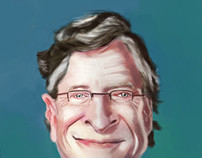 Caricature - Bill Gates