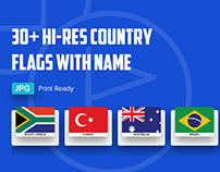 Free Download 30+ Hi-Resolution Country Flags with Name