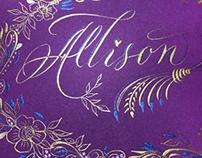 Thank you Allison
