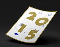 Poster calendrier vœux fin d'année La Mine
