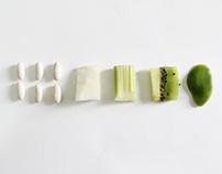 Le forme e i colori del cibo
