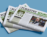 The Forestry Source newspaper design and layout