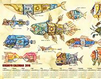 Mechanical fish CALENDAR