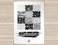 Black & White Calendar 2016