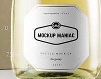 Burgundy White Bottle Mockup