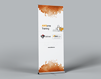 Rollup Banner Design - AWSome Training Bittnet Systems