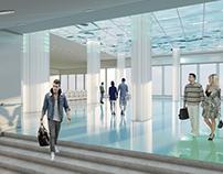 Metro station «Morskoy fasad» Design project