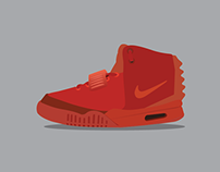 Miscellaneous: Nike Air Yeezy 2 Red October