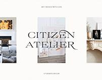 Citizen Atelier — Brand Identity & Web Design