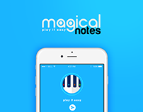 magical notes - app design