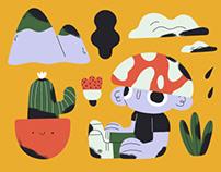 Multiple Illustrations