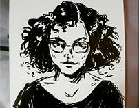 illustration,brushpen,marker