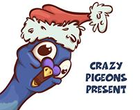 Crazy Christmas pigeons