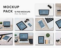 Mockup Pack - 12 Photorealistic PSDs