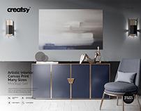Artistic Interior Canvas Prnt Mockup Set