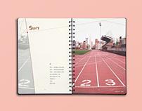 Notebook Design -《交錯點》手札設計