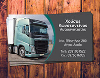 Business Card and custom Invoices for Housos transports