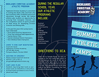Summer Athletic Camps Quadfold Brochure