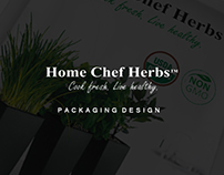 Home Chef Herbs - Packaging design