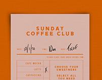Coffee Club Menu