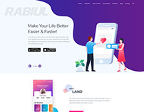 Rabiul App landing page