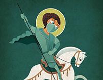 Saint George Killing the Covid-19