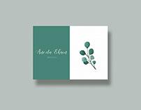 Wedding invitation design with watercolor paper