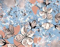 Mountain floral dream - print design for Jovoto