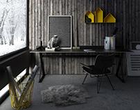 scandinavian small office