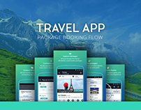 Travel app booking flow