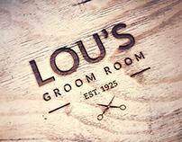 Lou's Groom Room Mock Branding/Identity