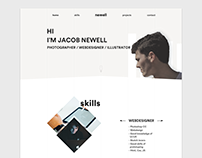 One page website concept | Minimalistic