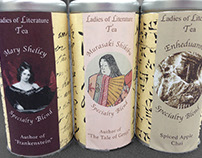 Ladies of Literature Tea Canisters Packaging Design