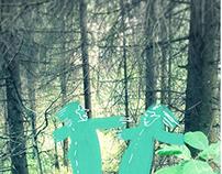 green men at home