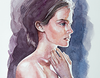 Emma Watson's Portrait - Watercolor