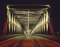 night bridge color and bw