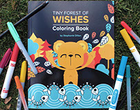 Tiny Forest of Wishes Coloring Book