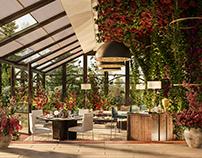 Veranda & Terrace for a private Villa