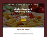 Website Design - Dante's Caterers