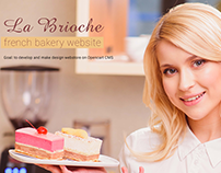 French backery website- La Brioche