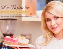 French backery website- La Brioche