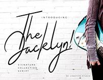 THE JACKLYN SCRIPT - FREE SIGNATURE FONT