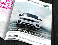 Diseño de portadas Land Rover