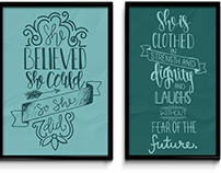 Handlettered Poster Series