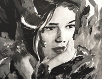 gouache, watercolor and photoshop