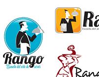 Rango Escuela del arte de servir. Propuestas de Logos