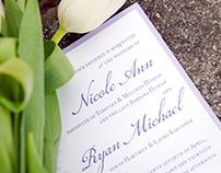 Spring Floral Wedding Invitation Suite